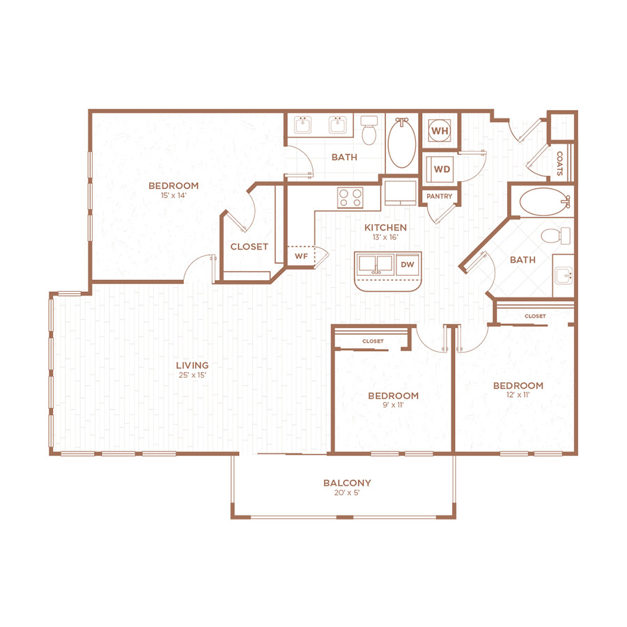 Palmetto Apartments: One, Two & Three Bedroom Apartments