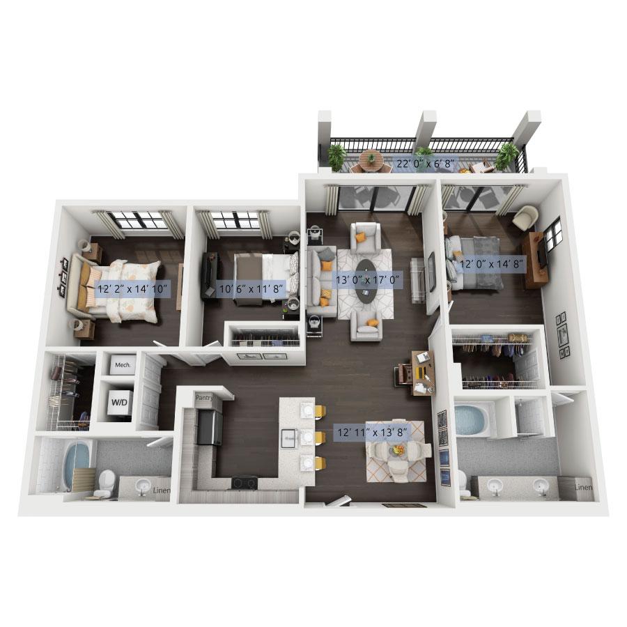Luxury One, Two & Three Bedroom Apartments