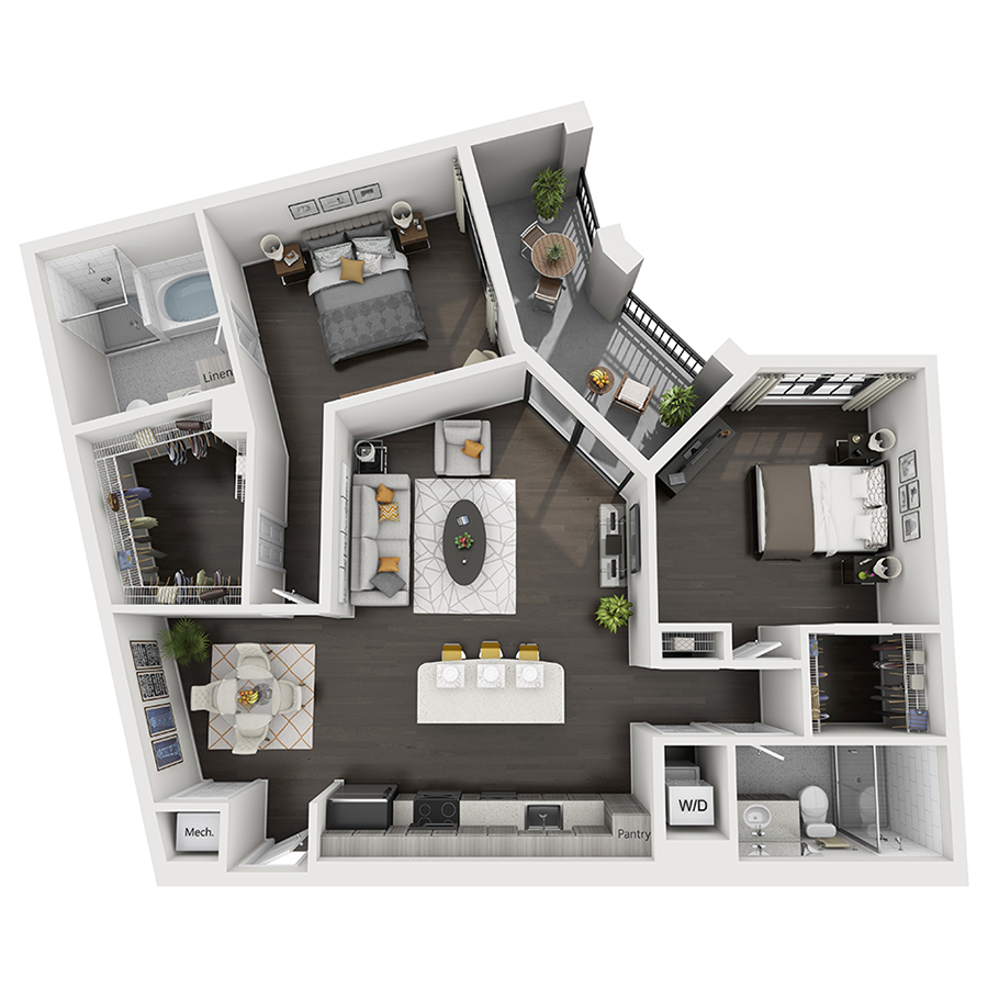 850 boca luxury one two three bedroom apartments townhomes